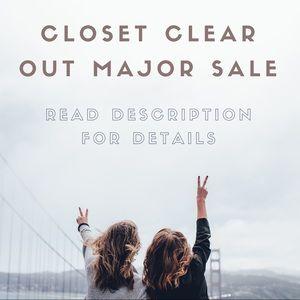 Closet Clear Out MAJOR SALE